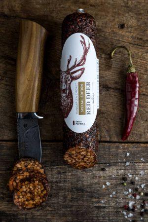 Special Edition csípős paprikás szarvas szalámi